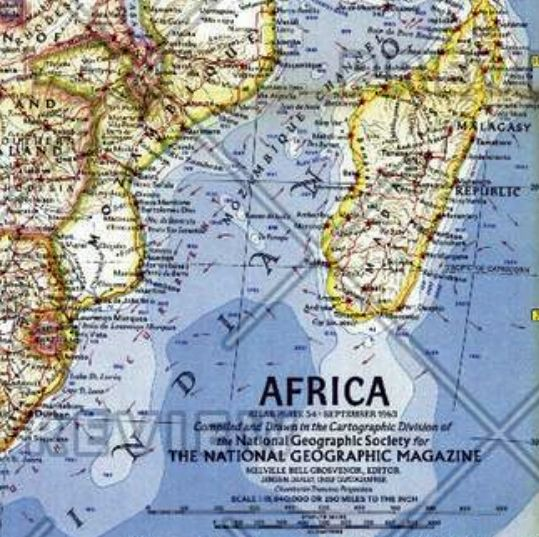 1960 Map Of Africa.Africa Published 1960 By National Geographic
